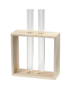 Portaprovette, H: 10+15 cm, P 4 cm, L: 10,5 cm, 1 pz
