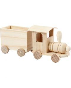 Trenino con carrozza, H: 9,5 cm, L: 21,5 cm, L: 6,5 cm, 1 pz