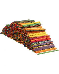 Bastoncini con buchi, L: 11,4 cm, L: 10 mm, colori asst., 1000 pz/ 1 conf.