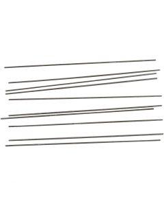 Guida di metallo, L: 20 cm, diam: 2 mm, 10 pz/ 1 conf.