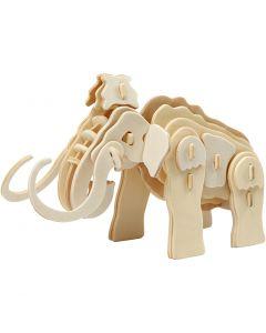Costruzioni 3D, mammut, misura 19x8,5x11 cm, 1 pz