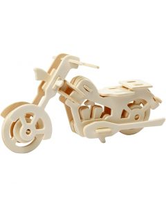 Costruzioni 3D, motociclo, misura 19x9x9 cm, 1 pz