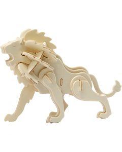 Costruzioni 3D, leone, misura 18,5x7x7,3 , 1 pz