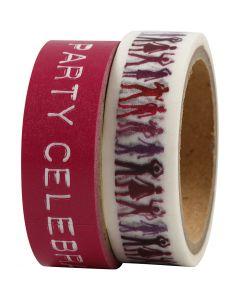 Masking Tape, L: 15 mm, rosa, 2x5 m/ 1 conf.