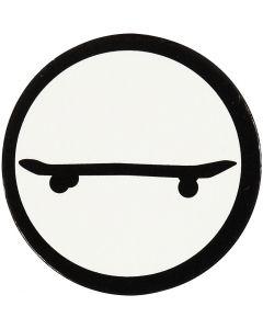 Sagoma in cartoncino, Skateboard, diam: 25 mm, bianco/nero, 20 pz/ 1 conf.