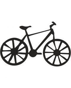 Sagoma in cartoncino, Bicicletta, misura 77x48 mm, nero, 10 pz/ 1 conf.