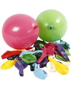 Palloncini, rotondi, diam: 23 cm, colori asst., 100 pz/ 1 conf.