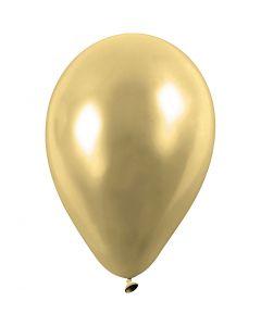 Palloncini, rotondi, diam: 23 cm, oro, 8 pz/ 1 conf.