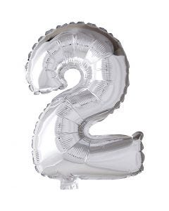 Palloncino alluminio - 9, 2, H: 41 cm, argento, 1 pz