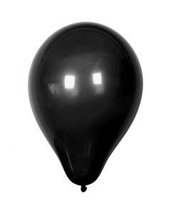 Palloncini, diam: 23 cm, nero, 10 pz/ 1 conf.