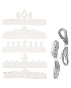 Corone, H: 10-16,5 cm, L: 60 cm, 230 g, bianco, 50 pz/ 1 conf.