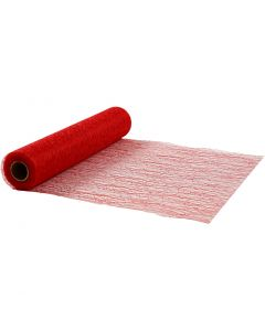 Runner da tavolo, L: 30 cm, rosso, 10 m/ 1 rot.