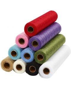 Runner di tessuto a rete, L: 30 cm, colori asst., 11x10 m/ 1 conf.