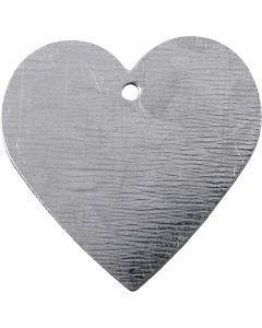 Cuore di metallo, misura 30x30 mm, 15 pz/ 1 conf.