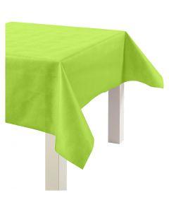Tovaglia in finta stoffa, L: 125 cm, 70 g, verde lime, 10 m/ 1 rot.