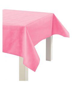 Tovaglia in finta stoffa, L: 125 cm, 70 g, rosa, 10 m/ 1 rot.
