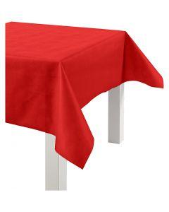 Tovaglia in finta stoffa, L: 125 cm, 70 g, rosso, 10 m/ 1 rot.