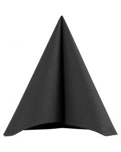 Tovaglioli, misura 40x40 cm, 60 g, nero, 20 pz/ 1 conf.