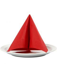 Tovaglioli, misura 33x33 cm, rosso, 20 pz/ 1 conf.