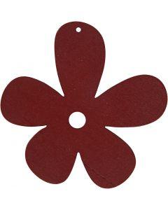 Fiore, misura 57x51 mm, porpora, 10 pz/ 1 conf.