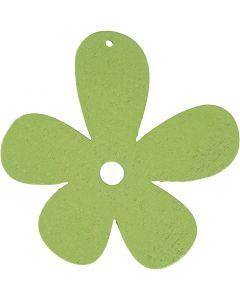 Fiore, misura 57x51 mm, verde lime, 10 pz/ 1 conf.