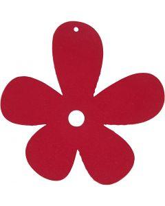 Fiore, misura 57x51 mm, rosa scuro, 10 pz/ 1 conf.