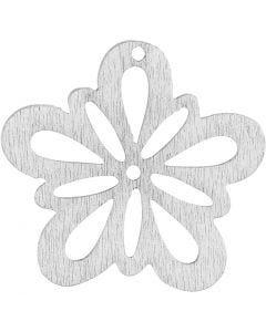 Fiore, diam: 27 mm, bianco, 20 pz/ 1 conf.
