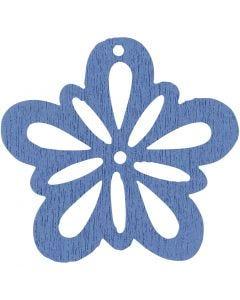 Fiore, diam: 27 mm, azzurro, 20 pz/ 1 conf.