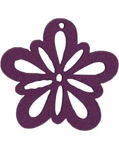Fiore, diam: 27 mm, viola scuro, 20 pz/ 1 conf.