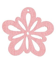 Fiore, diam: 27 mm, rosato, 20 pz/ 1 conf.