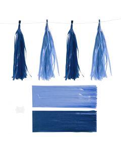 Nappe in carta , misura 12x35 cm, 14 g, blu scuro/azzurro, 12 pz/ 1 conf.