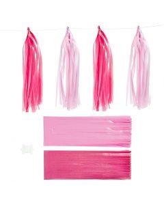 Nappe in carta , misura 12x35 cm, rosa, rosso chiaro, 12 pz/ 1 conf.