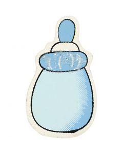 Biberon, misura 22x37 mm, azzurro, 10 pz/ 1 conf.