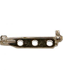 Retro spilla, L: 25 mm, placcato argento, 100 pz/ 1 conf.