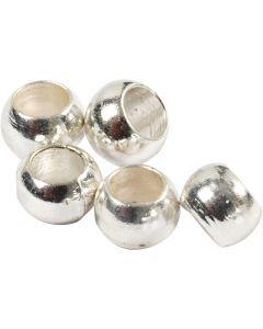 Perline a conchiglia, diam: 2 mm, placcato argento, 1000 pz/ 1 conf.