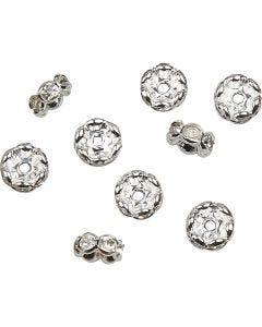 Rondelle con diamanti sintetici