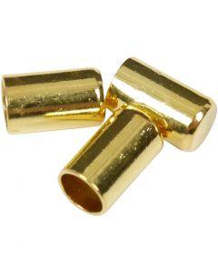 Chiusure bracciale, diam: 2,5 mm, placcato oro, 50 pz/ 1 conf.