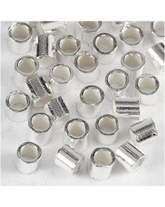 Perline a conchiglia, diam: 2 mm, argento sterling, 50 pz/ 1 conf.