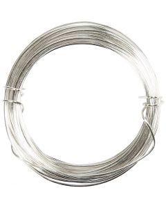 Filo argentato, spess. 0,4 mm, placcato argento, 20 m/ 1 rot.