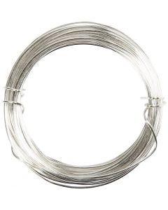 Filo argentato, spess. 0,8 mm, placcato argento, 6 m/ 1 rot.