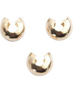 Copricollare, diam: 5 mm, placcato oro, 50 pz/ 1 conf.