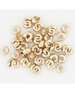 Copricollare, diam: 5 mm, placcato oro, 500 pz/ 1 conf.