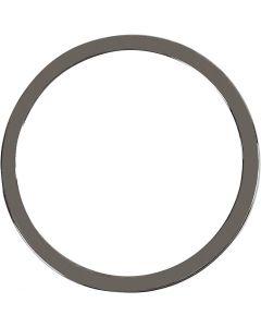 Pendente per gioielli, diam: 30 mm, grigio scuro metallico, 2 pz/ 1 conf.