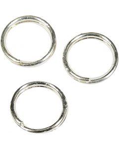 Anelli apribili, diam: 5 mm, placcato argento, 300 pz/ 1 conf.