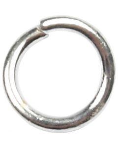 Anello apribile, misura 4,4 mm, spess. 0,7 mm, placcato argento, 500 pz/ 1 conf.