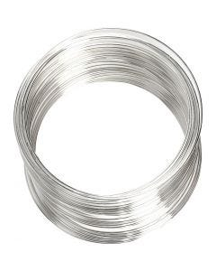Filo armonico, diam: 6 cm, spess. 0,8 mm, placcato argento, 1 pz