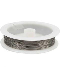 Filo per gioielli, spess. 0,38 mm, argento, 30 m/ 1 rot.