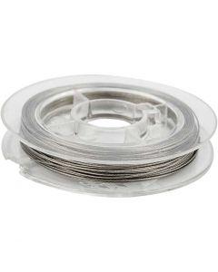 Filo per gioielli, spess. 0,38 mm, argento, 10 m/ 1 rot.