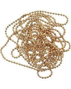 Catenina per gioielli, diam: 1,5 mm, placcato oro, 1,5 m/ 1 rot.