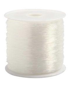 Cordino elastico per gioielli, rotondo, spess. 0,5 mm, 100 m/ 1 rot.